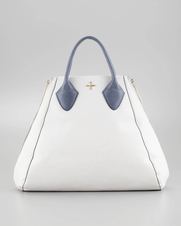 5d5614851e Lyst - Pour La Victoire Yves Medium Tote Bag in White