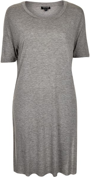 Topshop Split Side Tee - Lyst