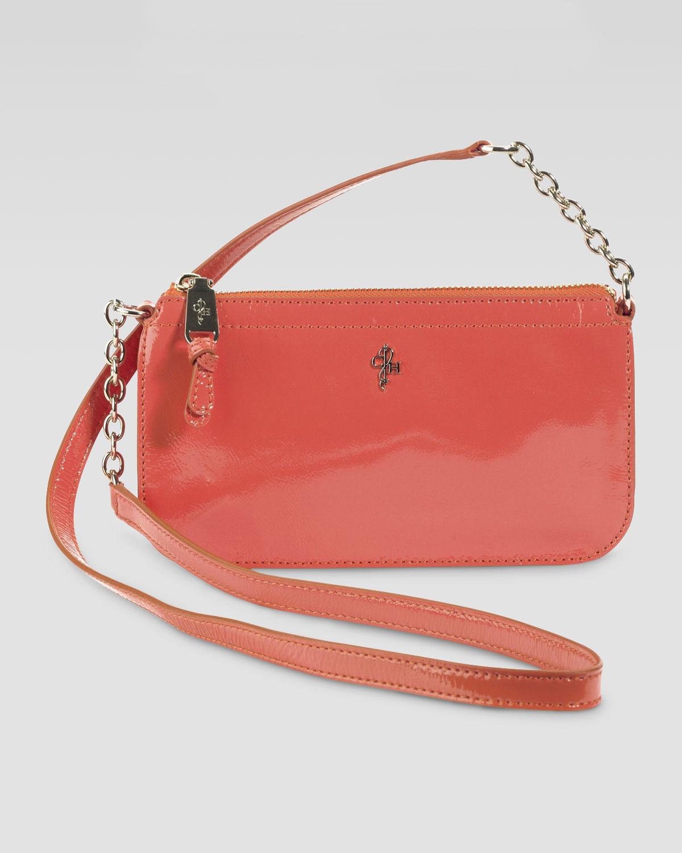 43bc150f6f Cole Haan Jitney Patent Ziptop Crossbody Bag in Orange