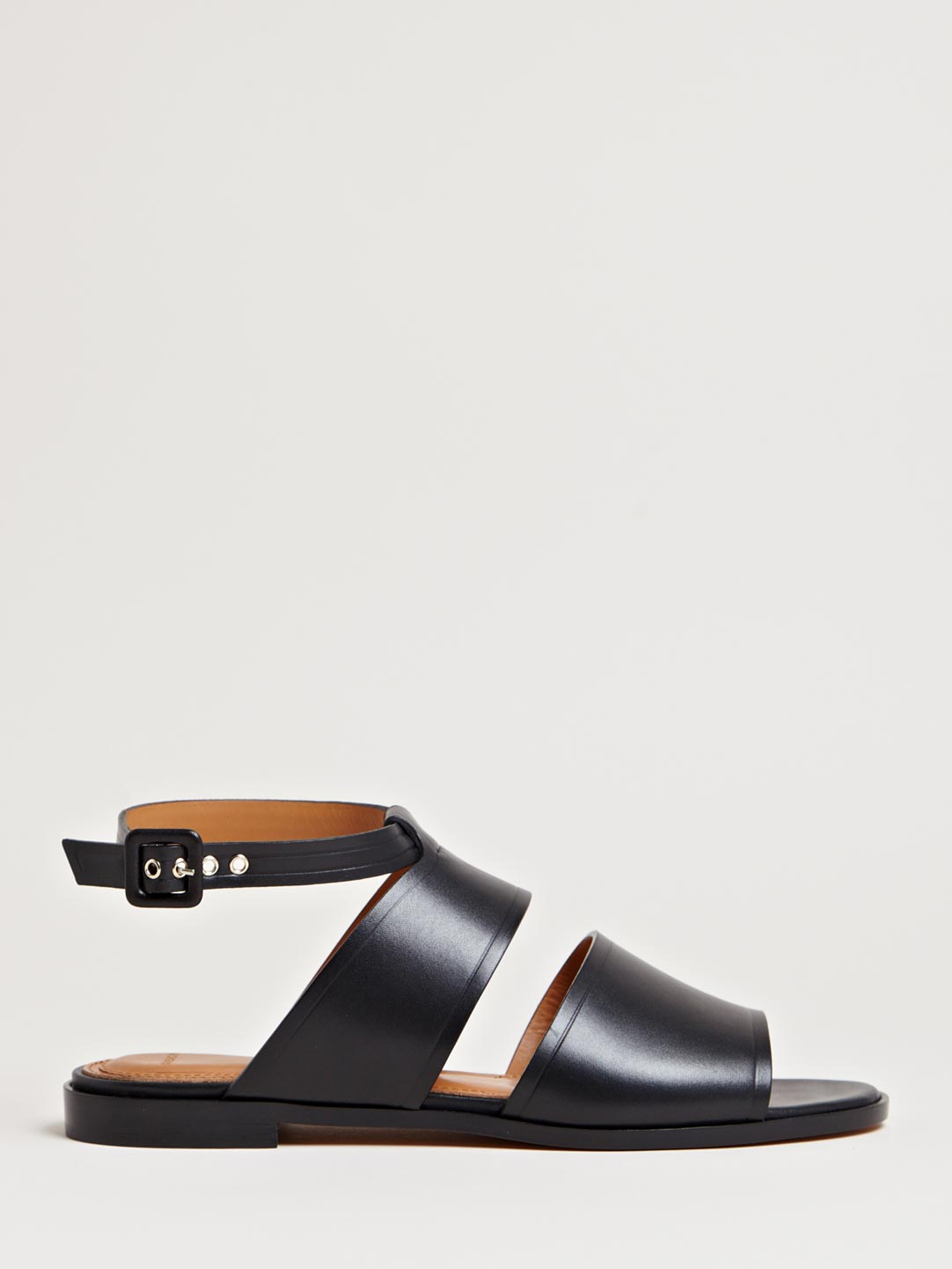 Givenchy Womens Wide Strap Sandals In Black Lyst