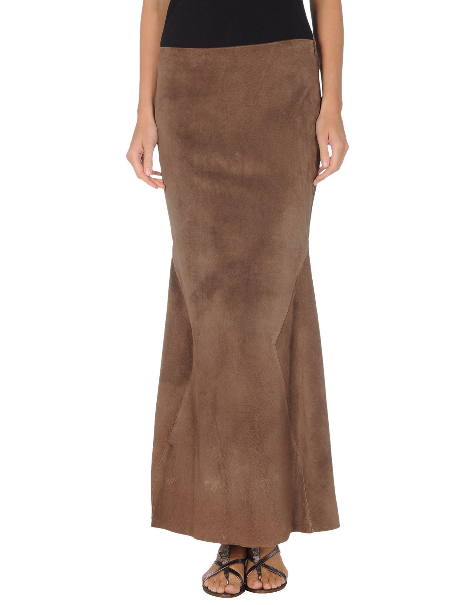 haute hippie leather skirts in brown save 26 lyst