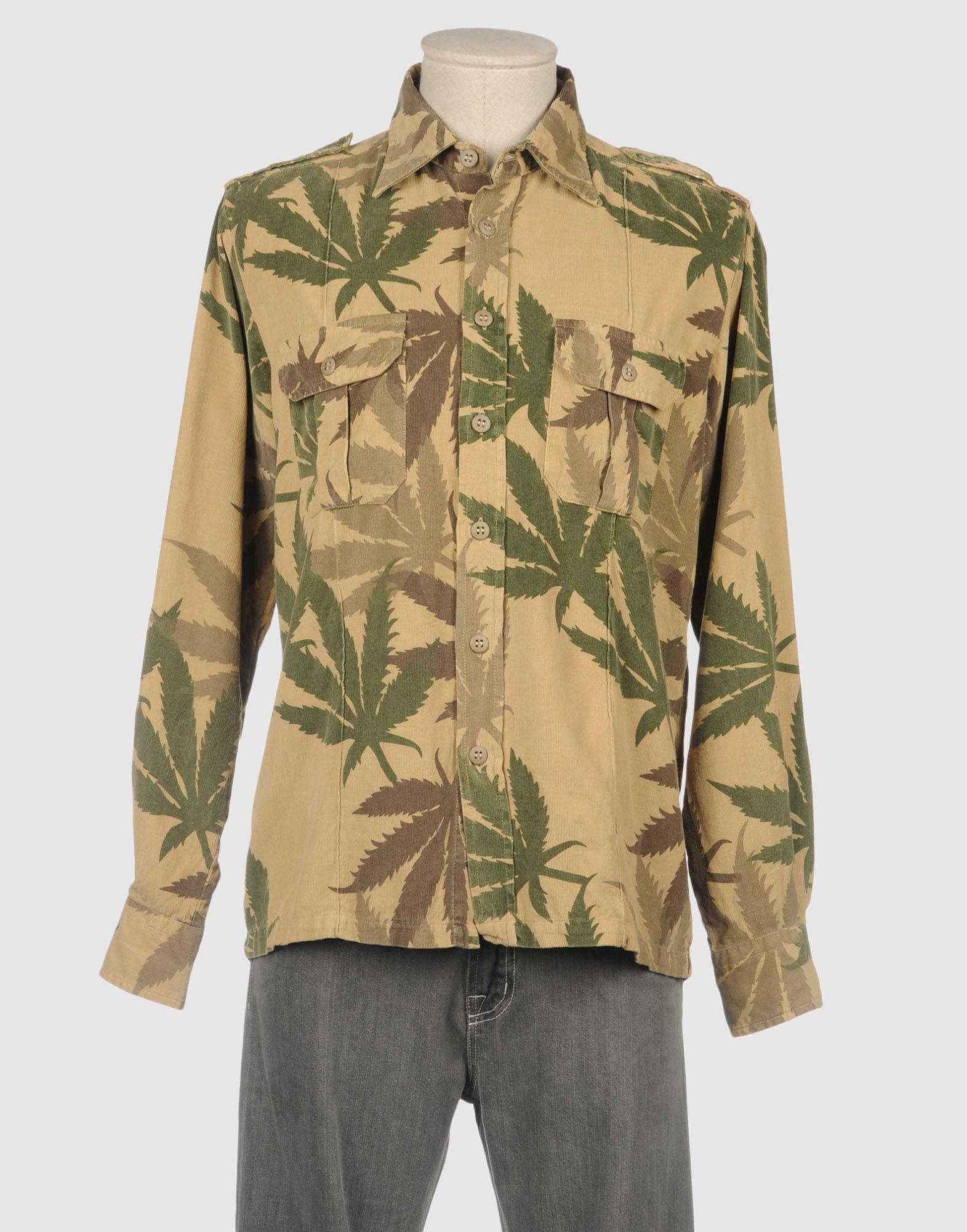 Mason 39 S Long Sleeve Shirt In Green For Men Military Green
