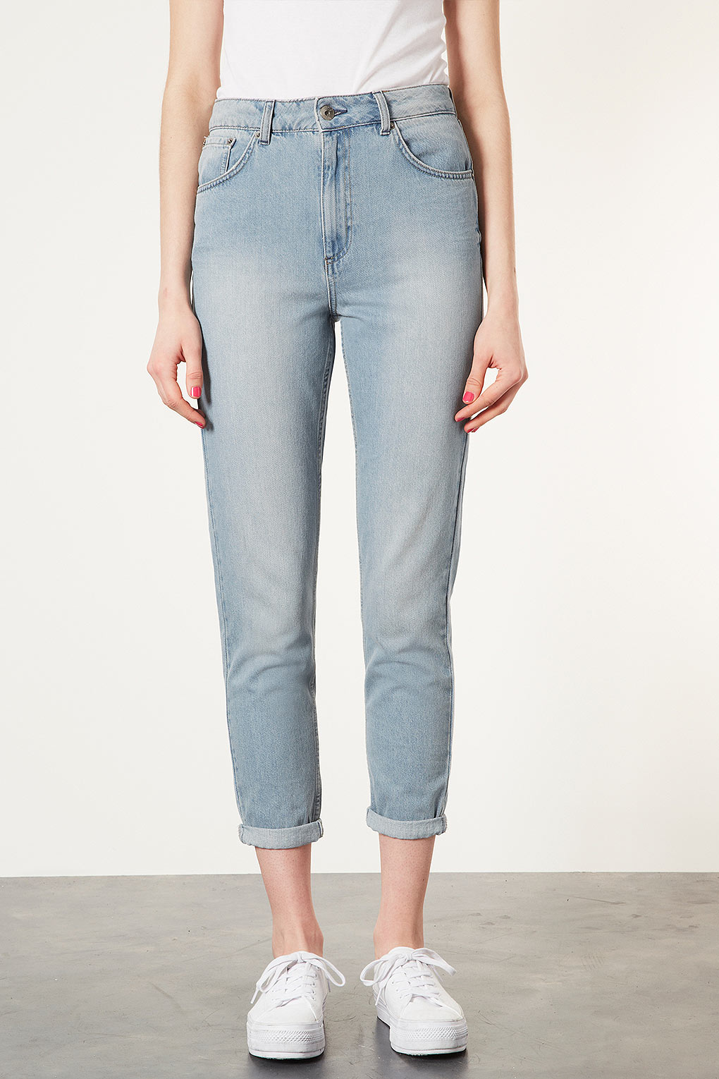 Topshop moto high waisted mom jeans