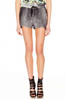Rebecca Minkoff Mika Leather Shorts  - Lyst