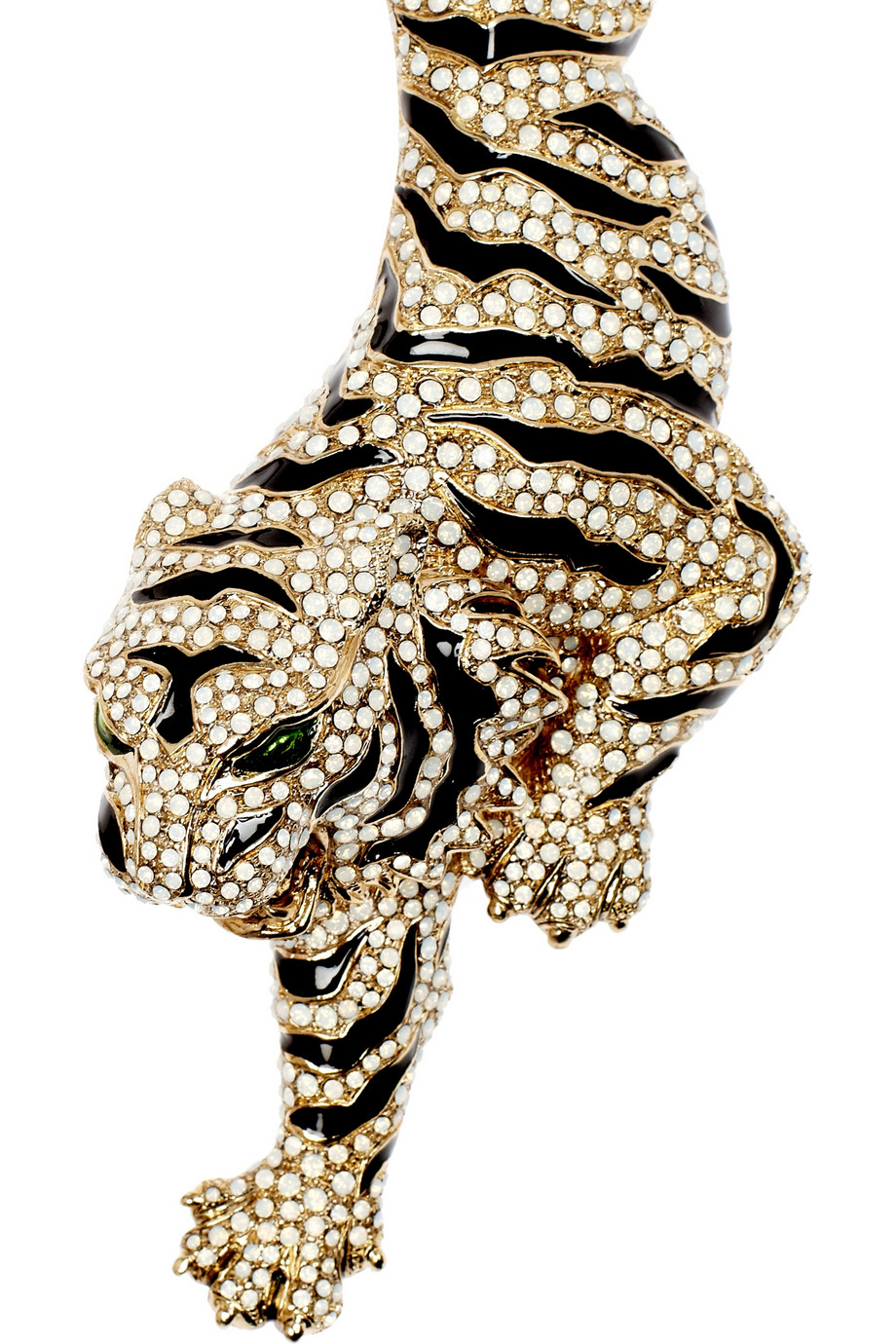 Lyst Roberto Cavalli Goldplated Swarovski Crystal Tiger