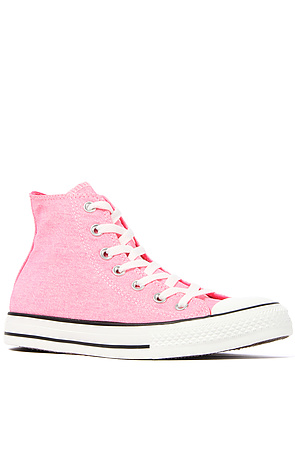4abe93fa6b72 Lyst - Converse The Chuck Taylor All Star Hi Sneaker in Washed Neon ...
