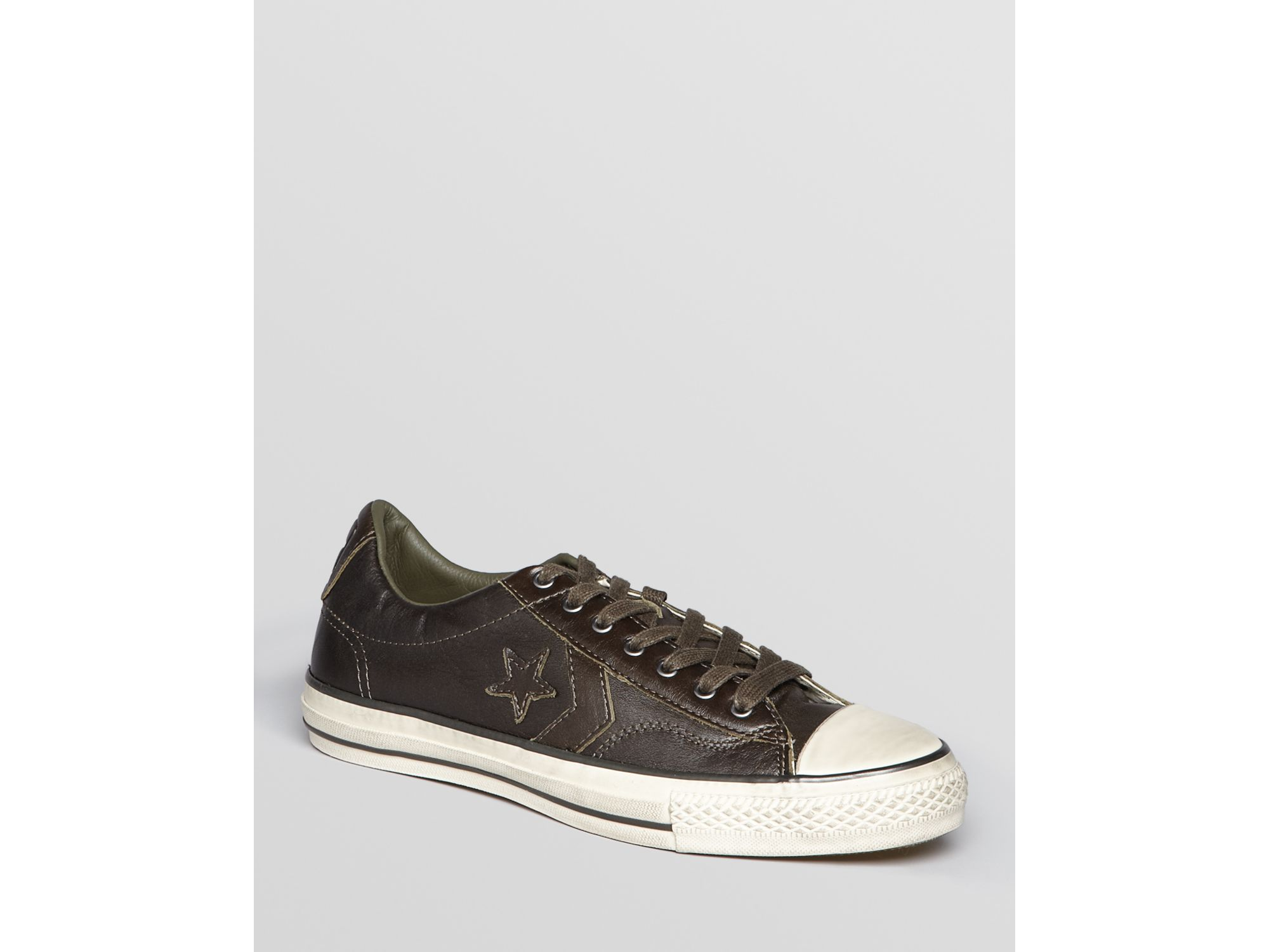John Varvatos Converse By Player Burnished Leather Low Top
