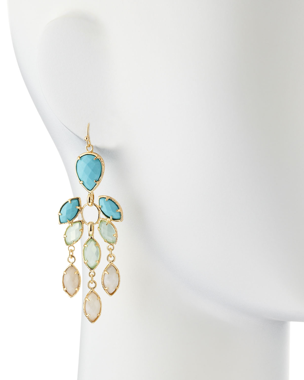 Lyst kendra scott flower chandelier earrings cabana in metallic gallery arubaitofo Images