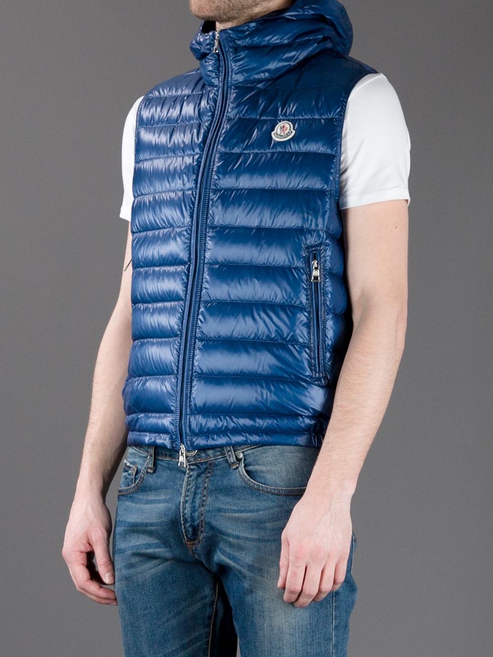 Lyst - Moncler Patrick Padded Gilet in Blue for Men b97e10e02eb