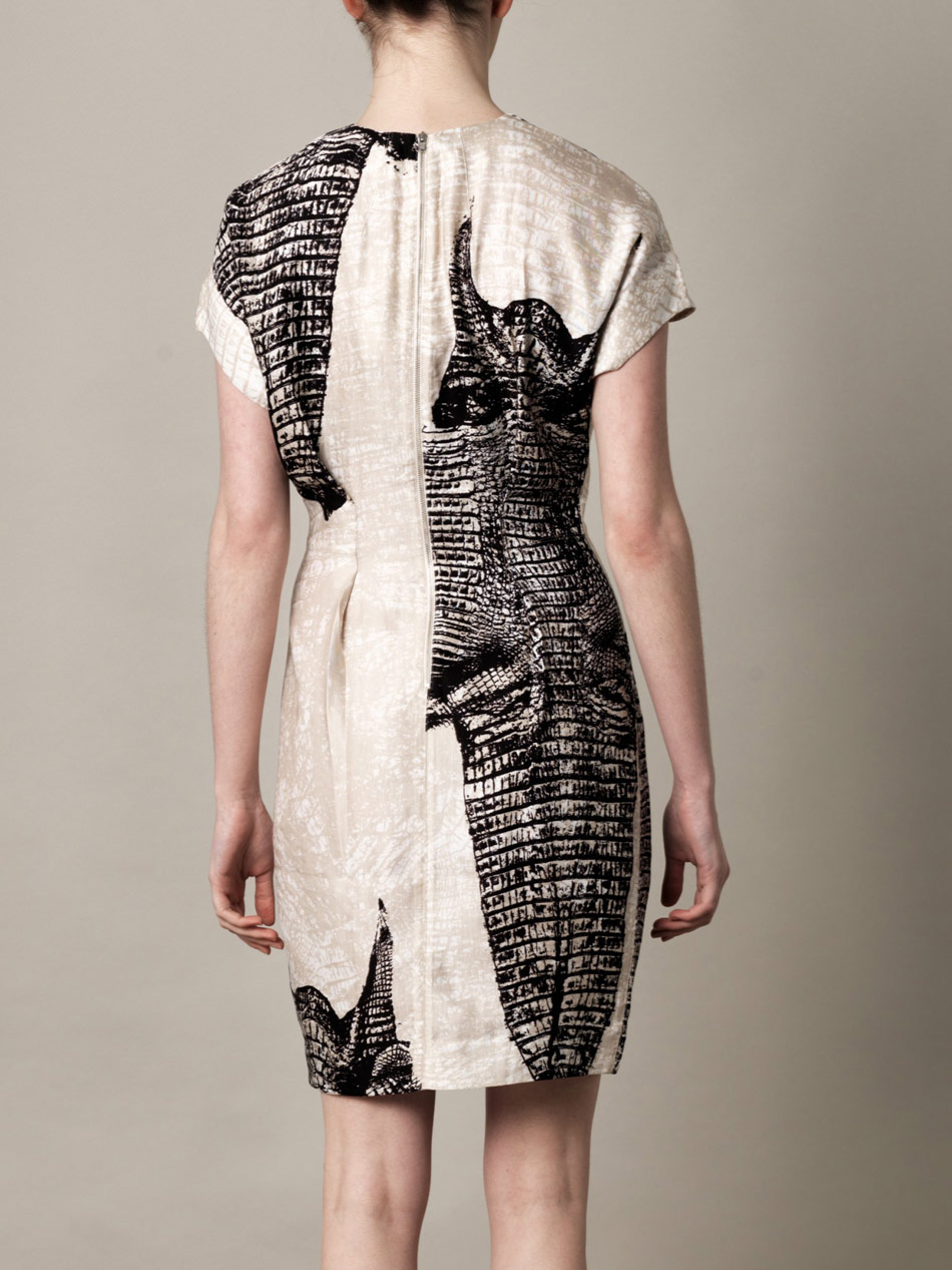 Silk crocodile pattern dress Acne Studios Cheap Buy dXvynp