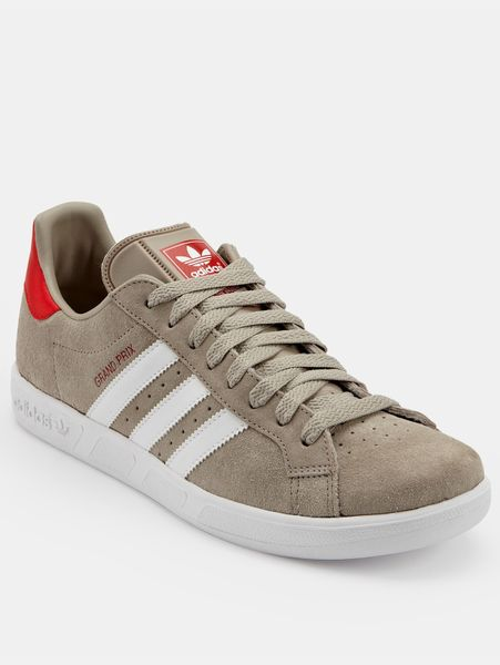 adidas grand prix mens trainers in gray for men grey. Black Bedroom Furniture Sets. Home Design Ideas