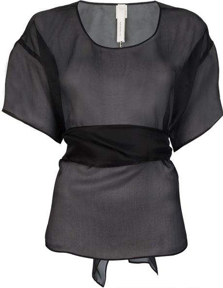 Anne Valerie Hash Phi Cut Out Blouse in Black