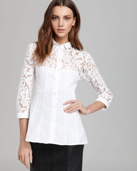 Ladies White Lace Blouse 72
