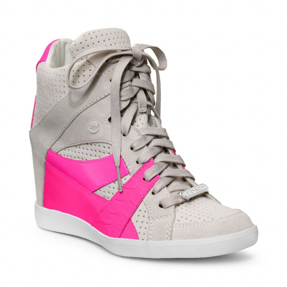 COACH Alexis Wedge Sneaker in Pink - Lyst