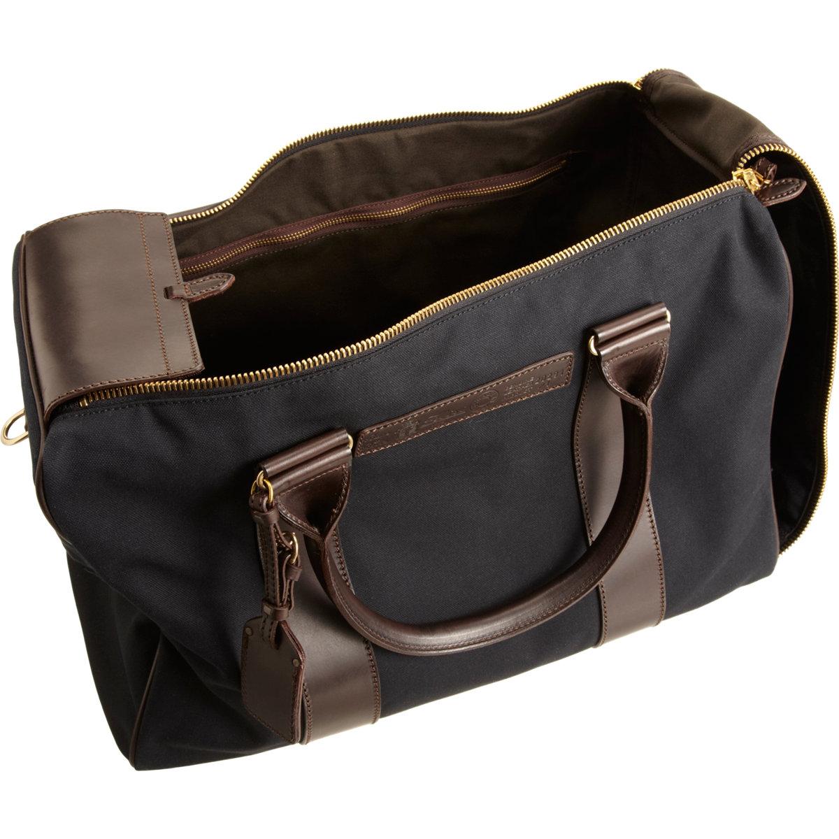 19e6168bd815 Felisi Leather Trimmed Duffel in Black for Men - Lyst