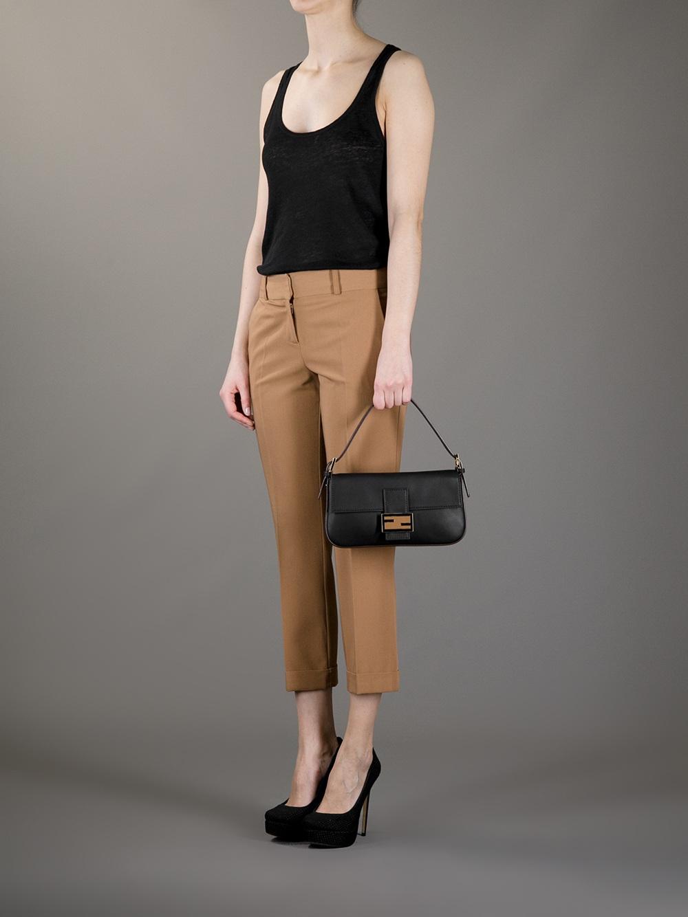 a2da2cac1395 ... spain fendi baguette shoulder bag in black lyst 92122 4559f