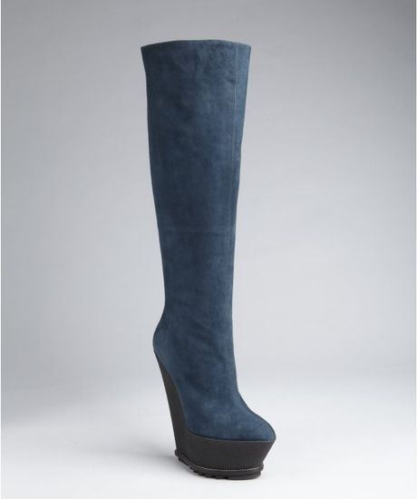 giuseppe zanotti cadet suede rubber wedge boots in