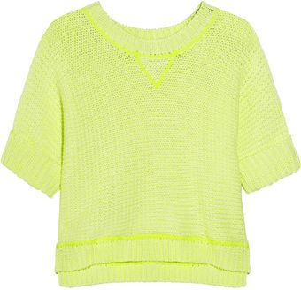 Milly Evey Neon Chunky Knit Cotton Bend Sweater - Lyst