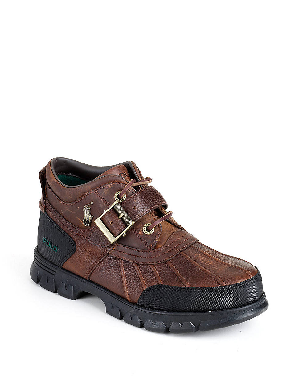polo ralph lauren dover iii leather hiking boots in brown for men lyst. Black Bedroom Furniture Sets. Home Design Ideas