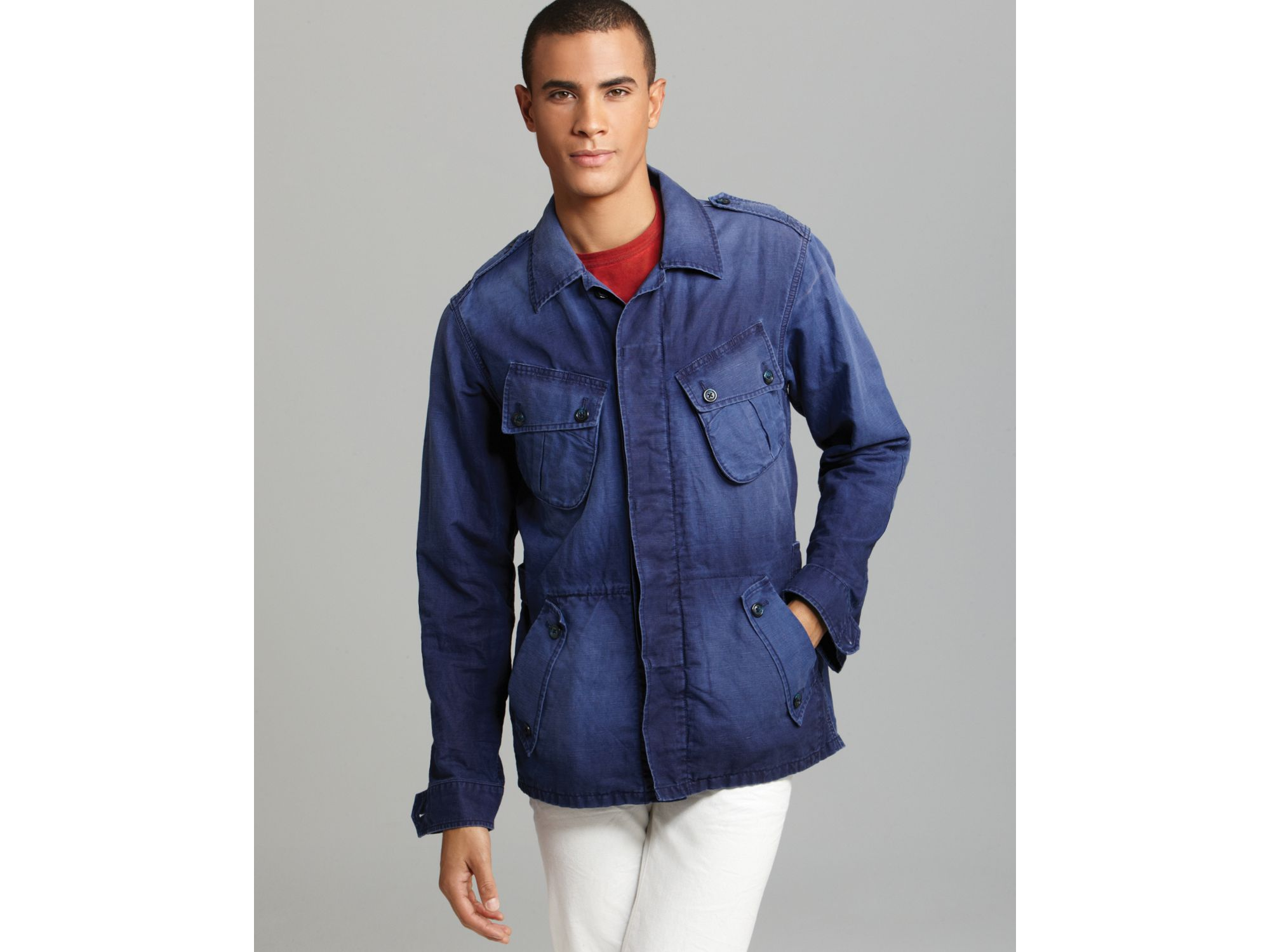 Prps Military Cargo Jacket In Blue For Men Navy Lyst