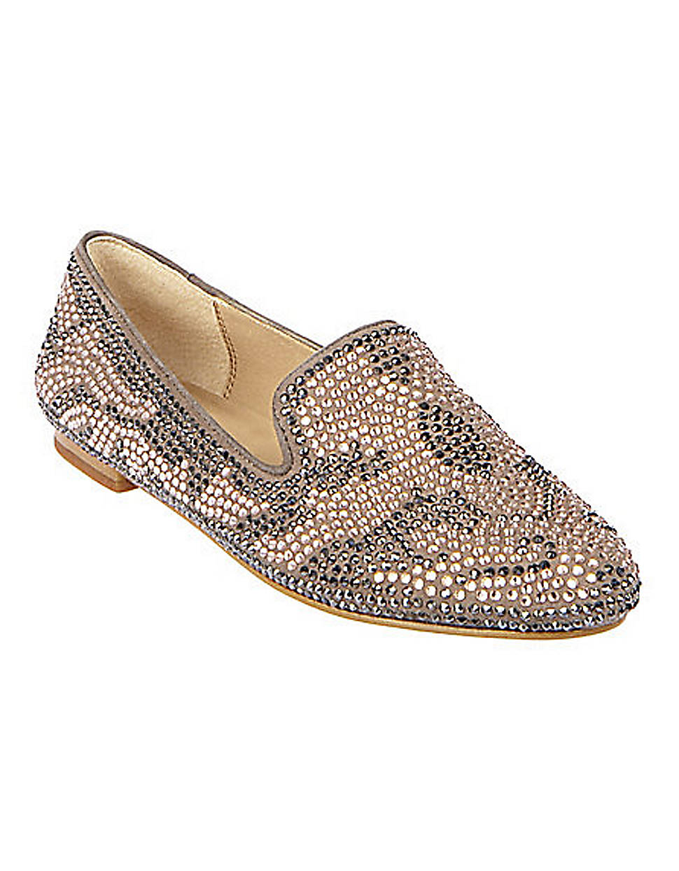 083f9177716 Steve Madden Conncord Beaded Flats in Natural - Lyst