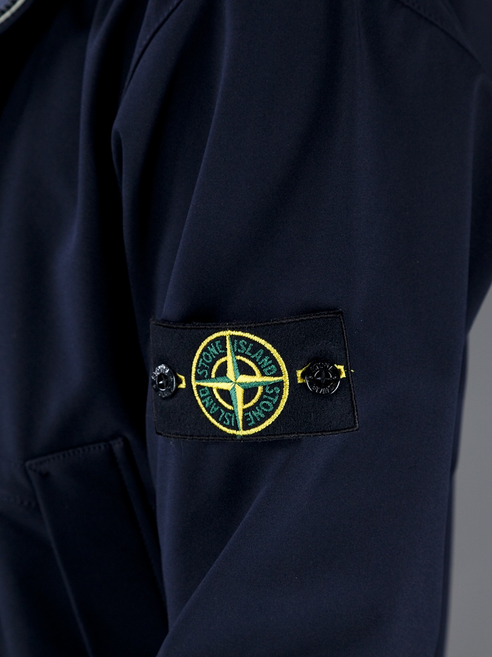 Stone Island Hooded Bomber Jacket in Blue for Men