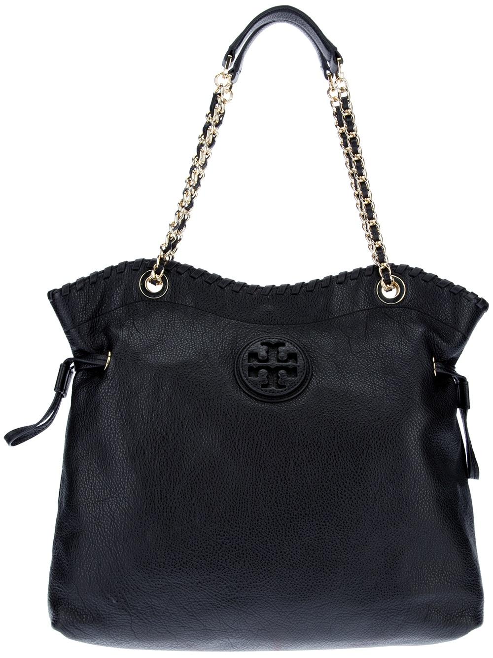 Tory Burch Marion Shoulder Bag In Black Lyst