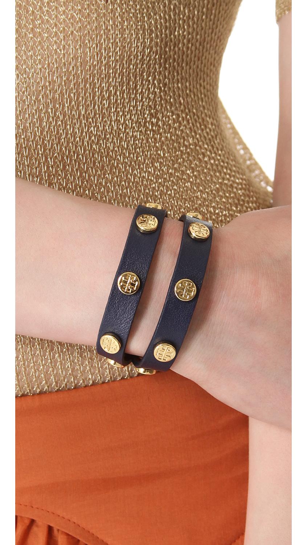 Double Wrap Logo Stud Bracelet