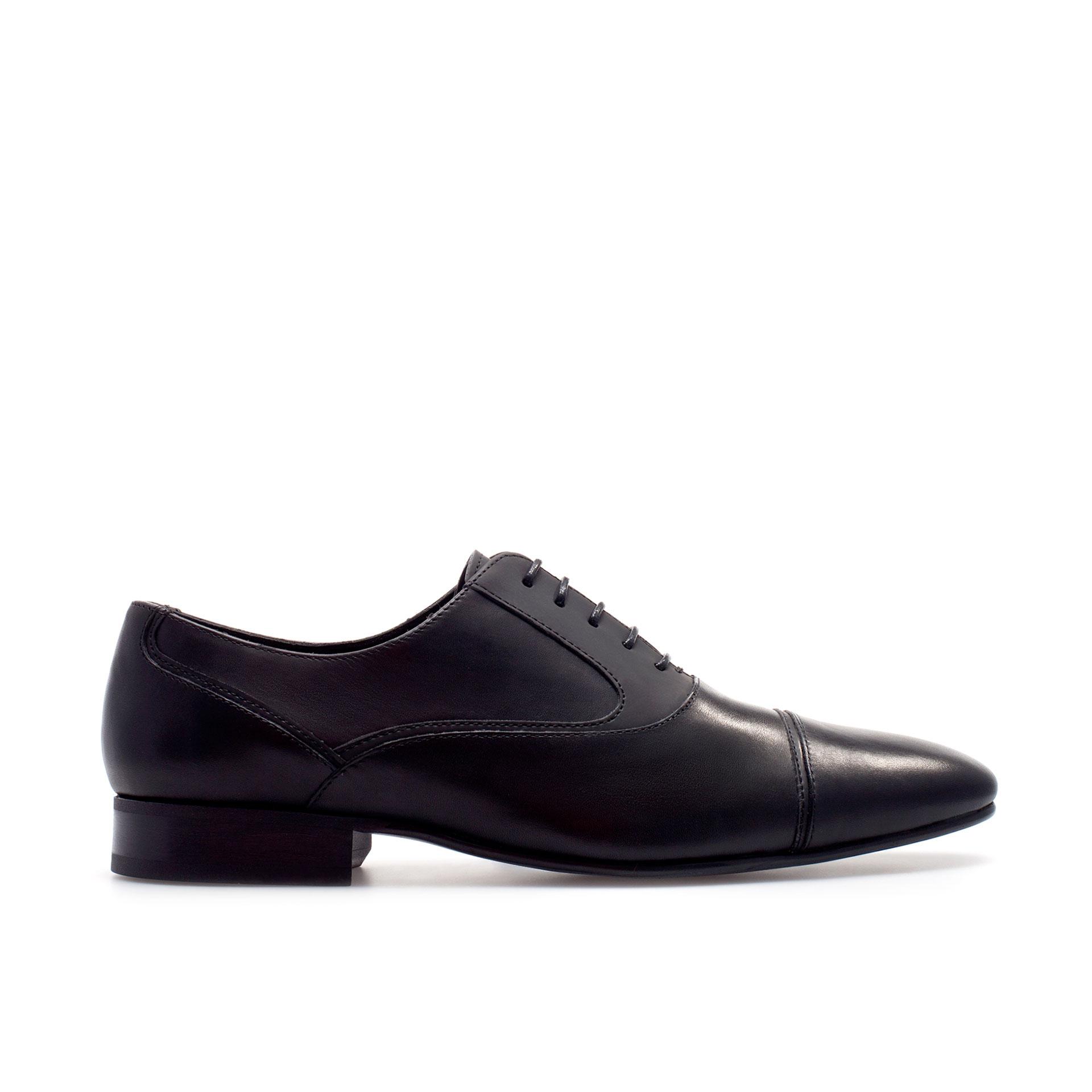 Original Zara Oxford Shoes In Blue For Men Navy Blue  Lyst