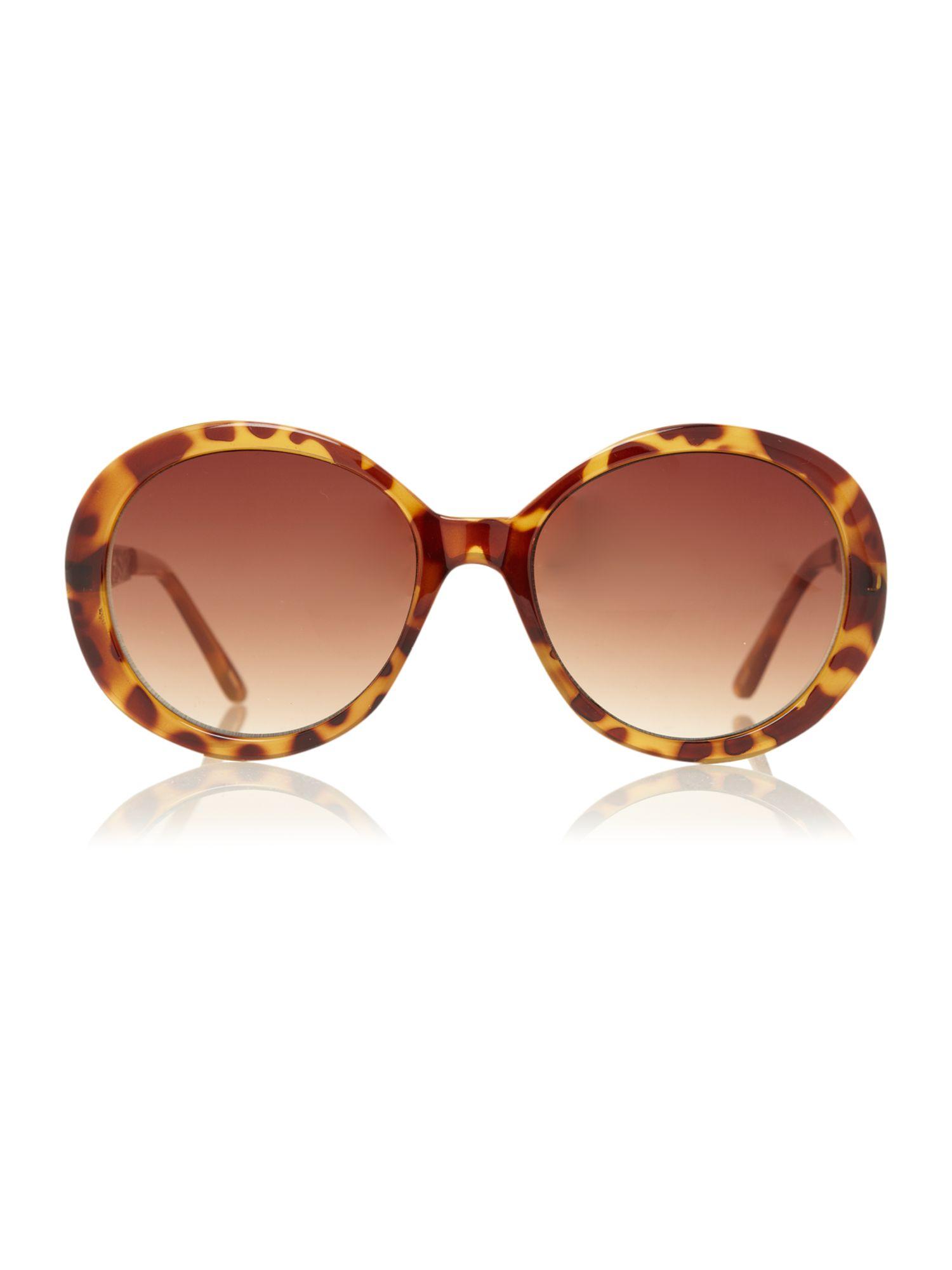 Biba Tortoiseshell Circular Filagree Sunglasses