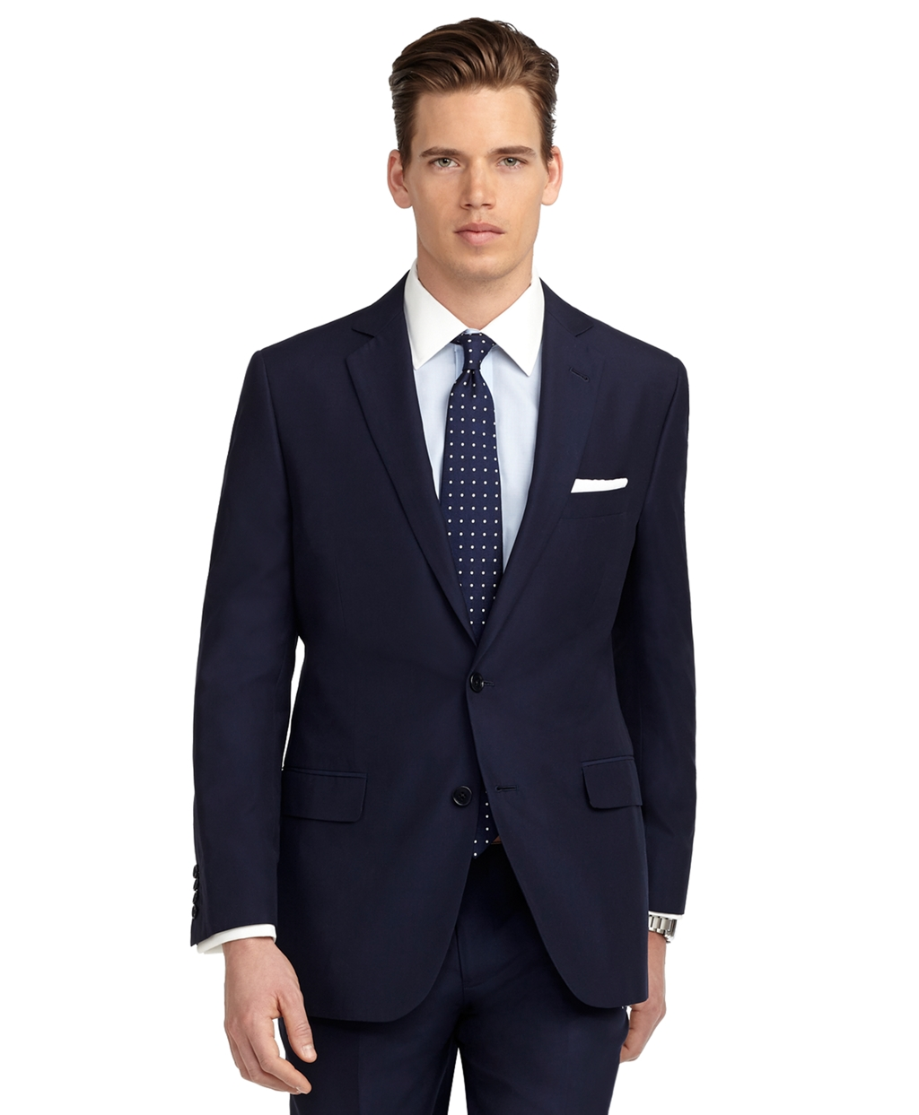 brooks brothers navy fitzgerald fit solid navy suit product 1 7371183 198329363