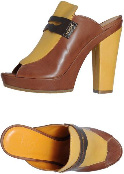history platform sandals in brown lyst