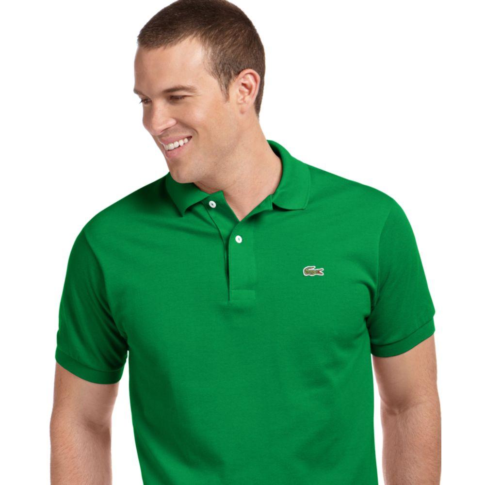 Pique For Green Shirt Classic Polo Men Lacoste XuTkiOPZ