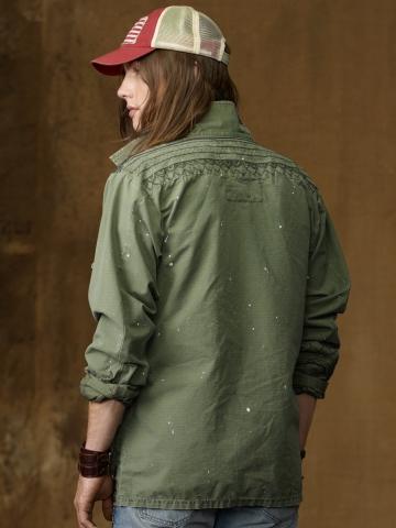 Lyst Ralph Lauren Fatigue Jacket In Green For Men