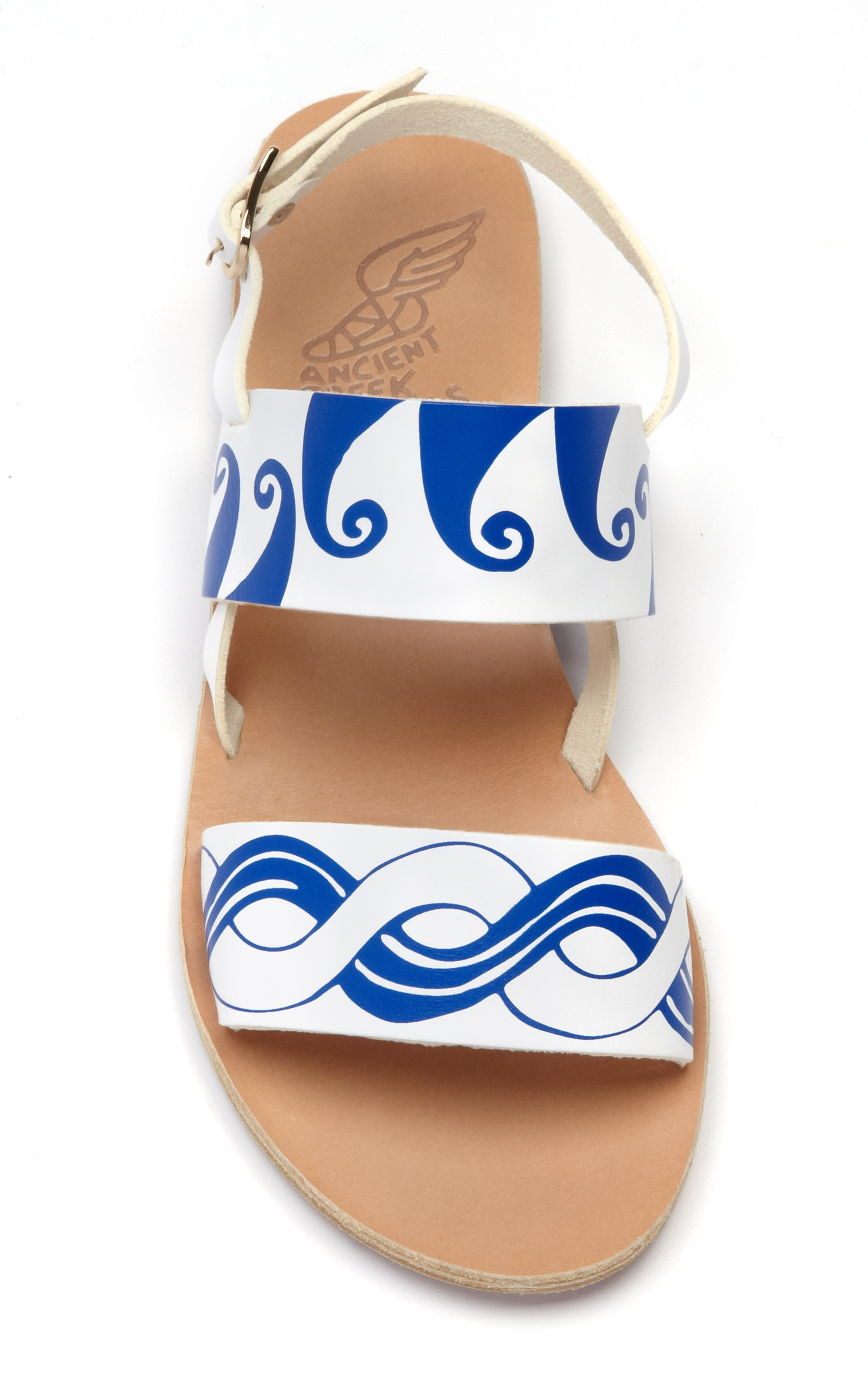 fdcf7f5cbbcd7 Lyst - Ancient Greek Sandals White Blue Calypso Sandal in White