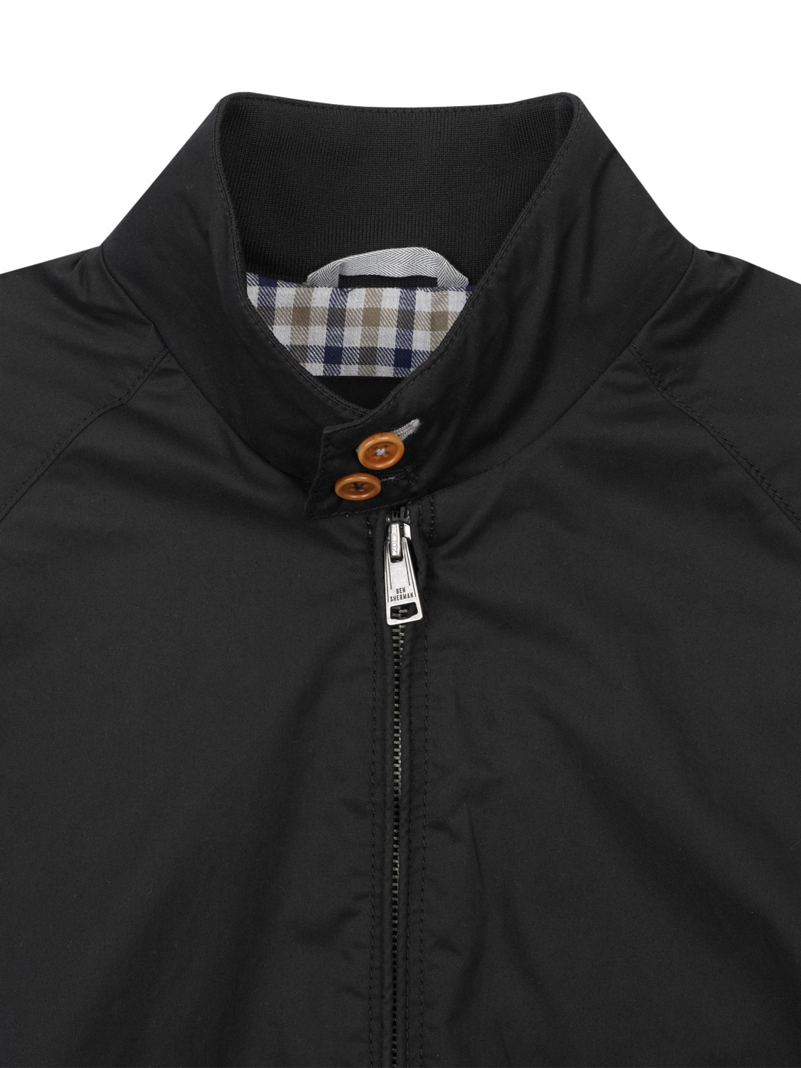 ben sherman staples harrington jacket in black for men lyst. Black Bedroom Furniture Sets. Home Design Ideas