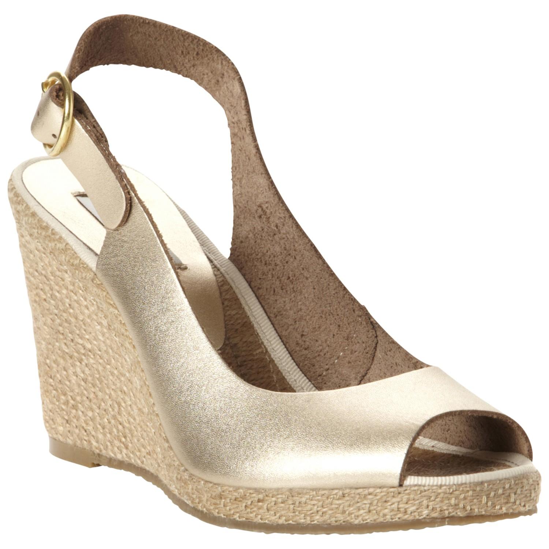 Dune Gleeful Peep Toe Wedge Sandal in