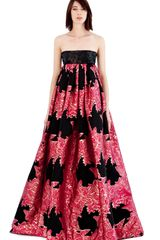 Giles Lurex Jacquard Empire Gown