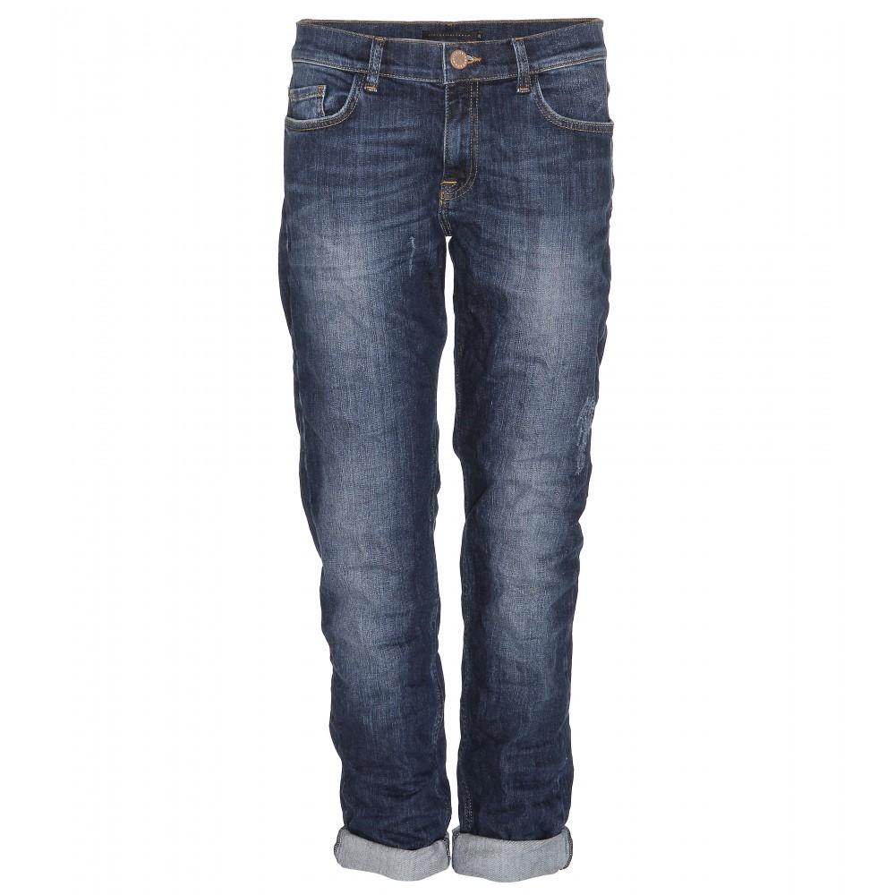 victoria beckham boyfriend fit jeans in blue denim lyst. Black Bedroom Furniture Sets. Home Design Ideas