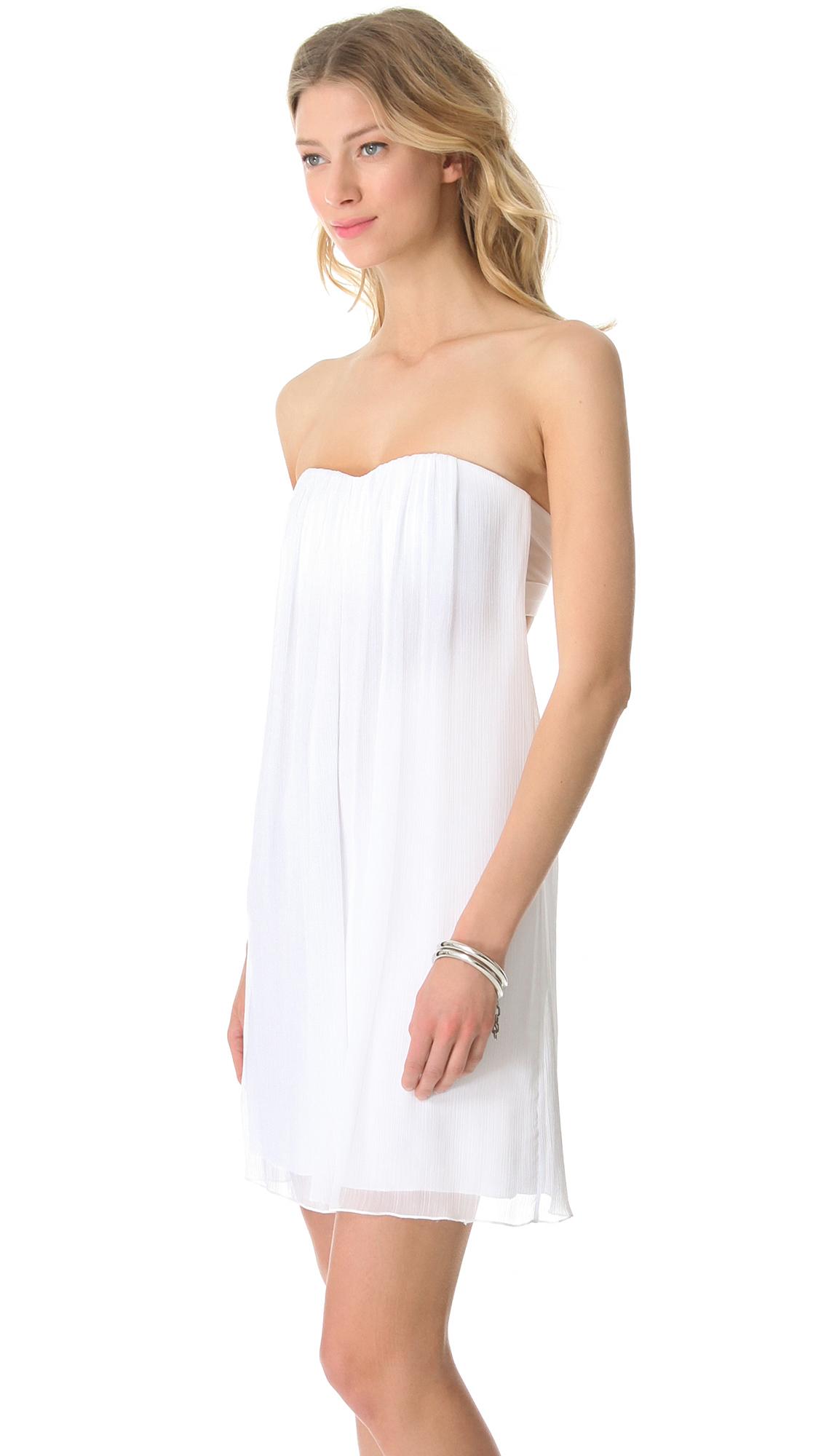 Lyst - Alice + Olivia Alice Olivia Center Drape Strapless Dress in White f10102419