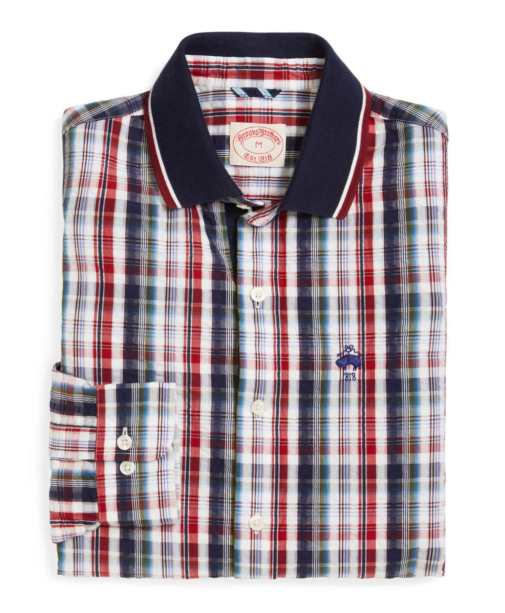 Brooks brothers seersucker americana plaid sport shirt in for Brooks brothers tall shirts