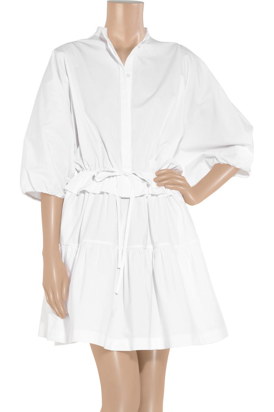 Lyst Chlo 233 Poplin Dress In White