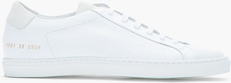 Common Projects White Microperforated Leather Summer Sneakers in White for Men