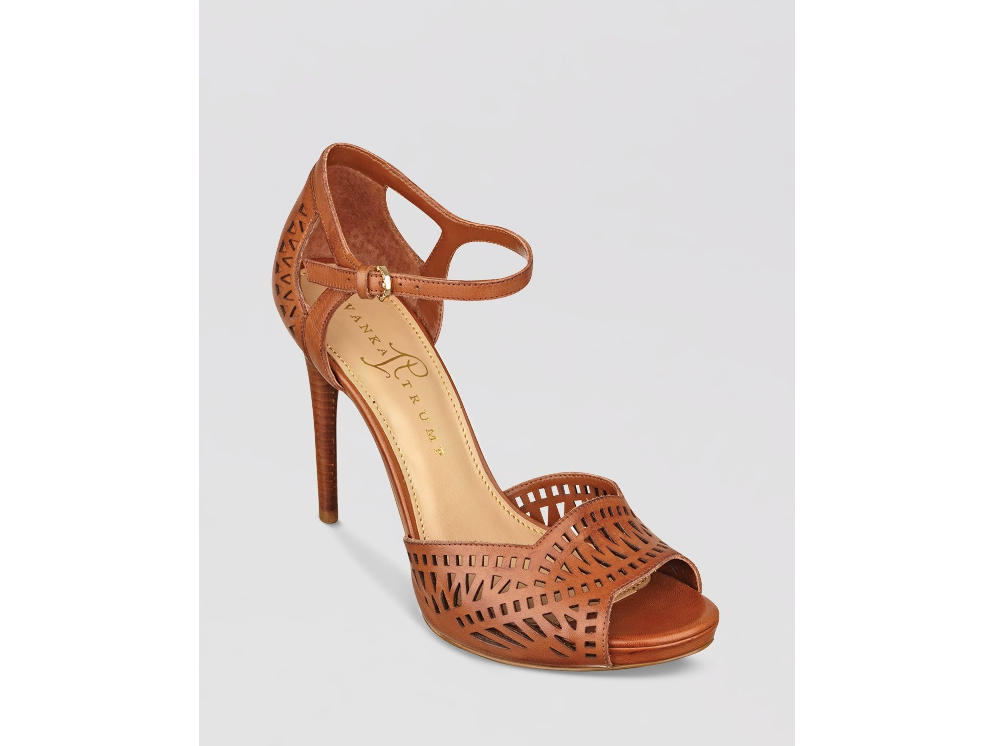 Lyst - Ivanka trump Ankle Strap Pumps Ariell High Heel in Brown