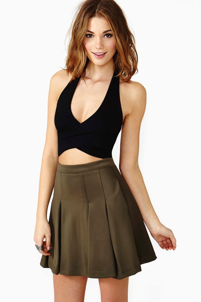 Lyst - Nasty Gal Cross My Heart Halter Top In Black-8224