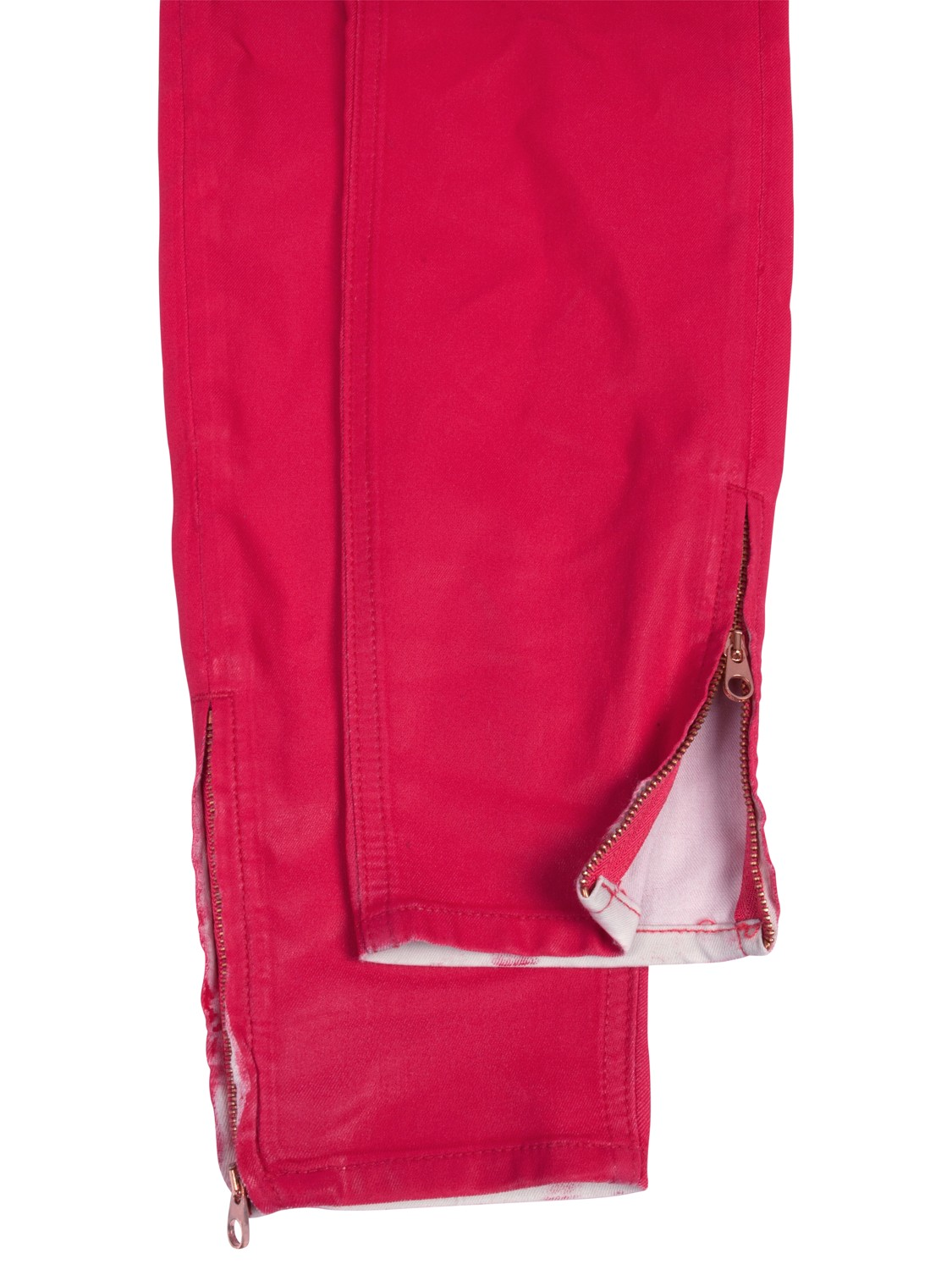 Ted Baker Resin Finish Skinny Jeans in Pink (Red)