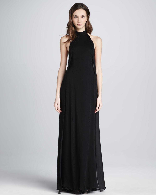 Theyskens Theory Daller Halter Maxi Dress In Black Lyst