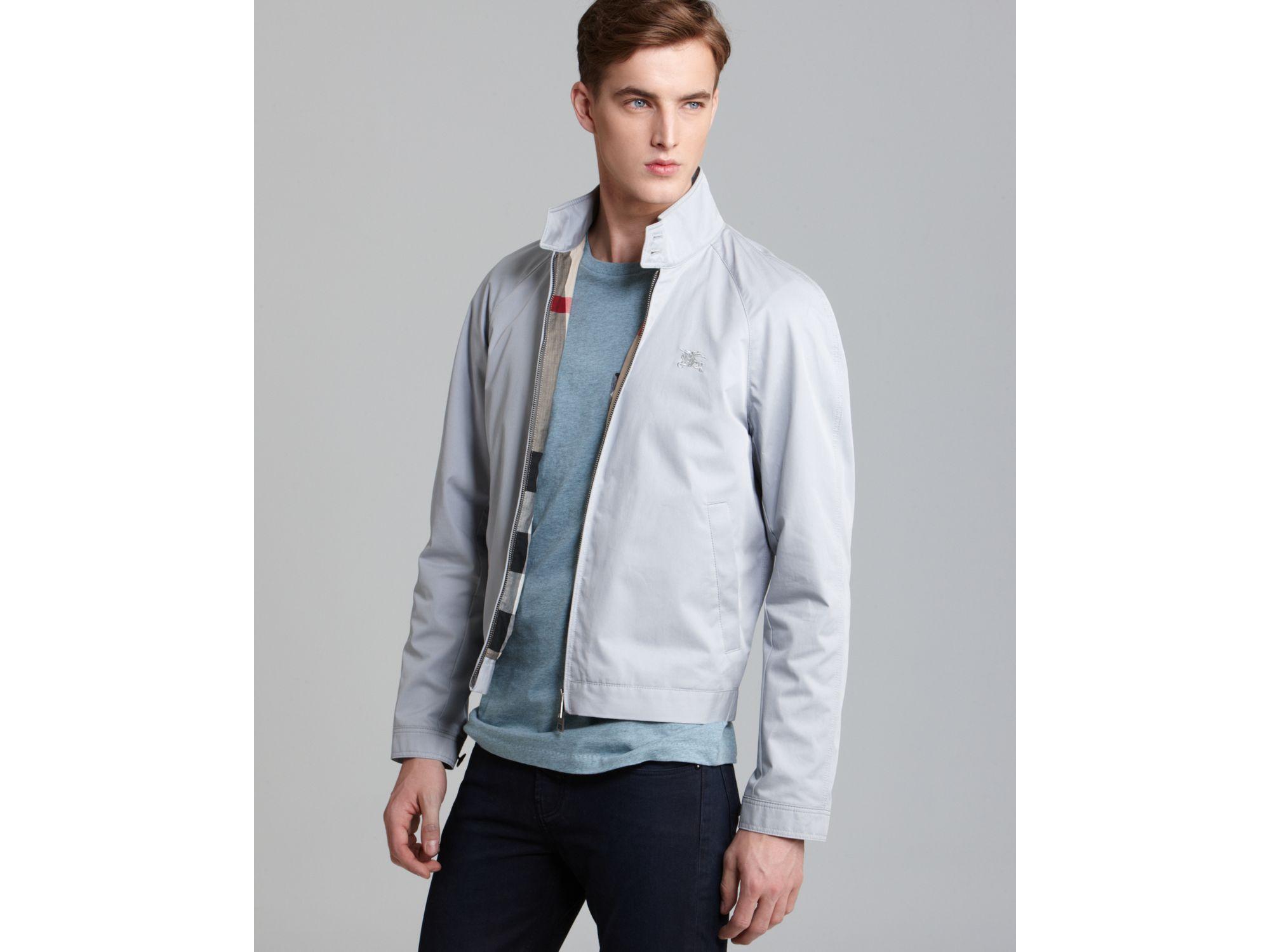 Burberry brit Amhurst Lightweight Cotton Jacket in Blue for Men | Lyst