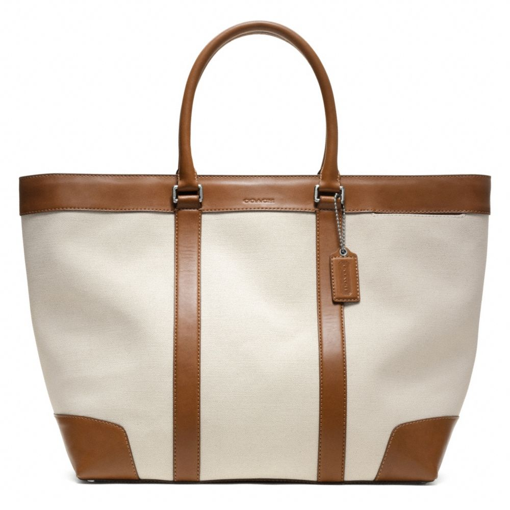 Lyst - Coach Bleecker City Canvas Weekend Tote in Brown