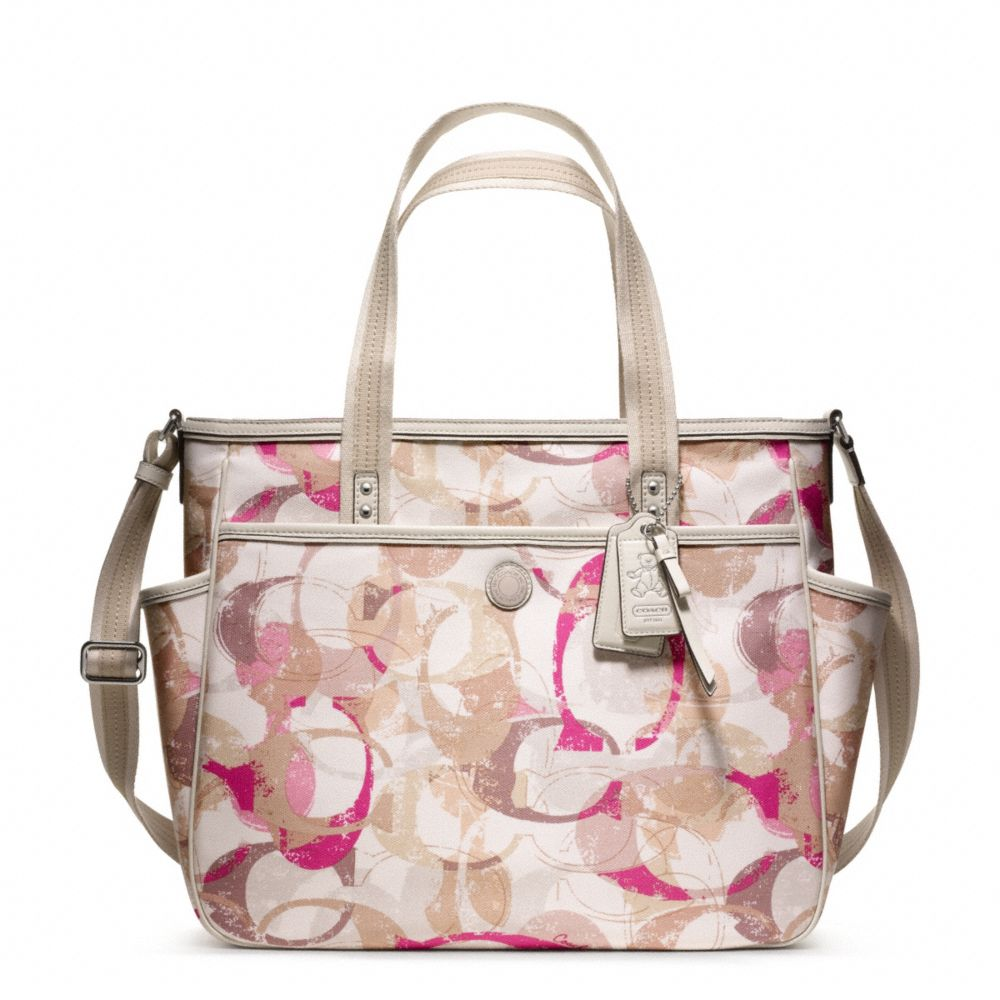Coach Baby Bag Stamped C Tote In Pink Lyst